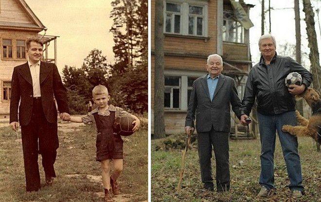 子ども時代の懐かしい写真を大人になって再現したら・・・なんか感動2