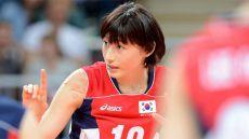 韓国女子バレー界のエースがミズノのロゴをテープで隠して「大韓独立万歳」
